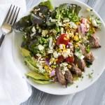 Grilled Chipotle Lime Steak Salad