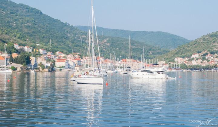 Sailing in Vis, Croatia