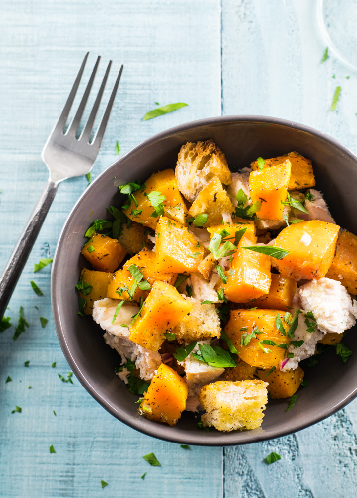 One Pan Roasted Butternut Squash Dinner