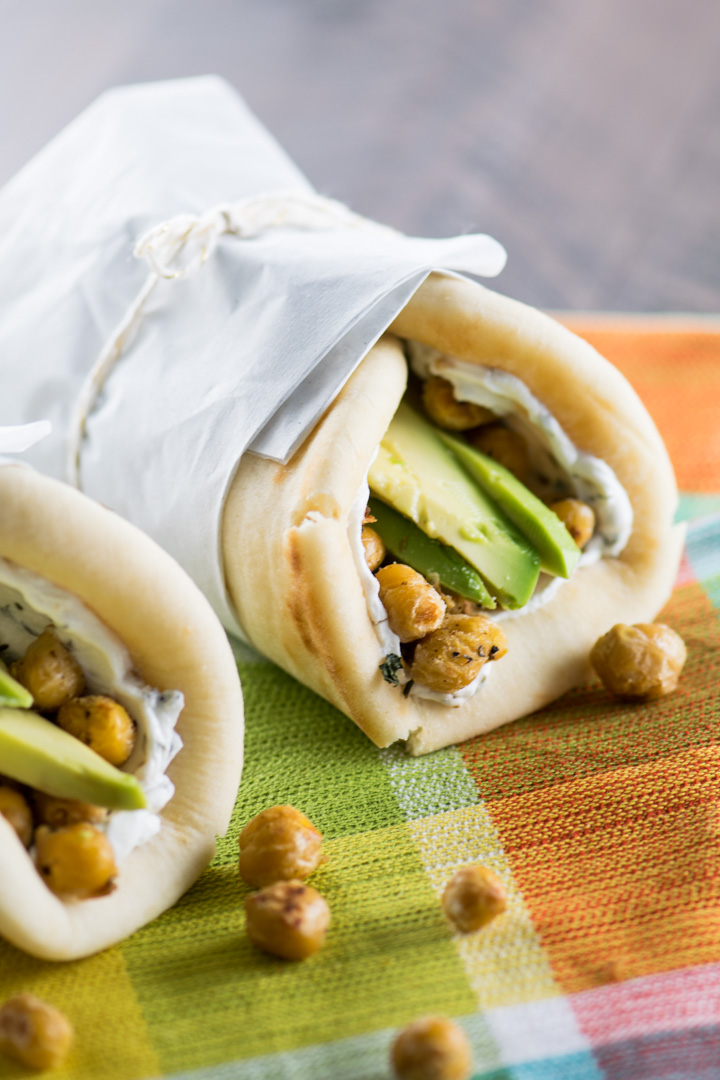 Crispy Chickpea Wraps with Herbed Goat Cheese