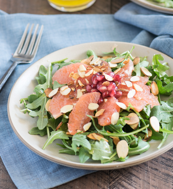 Pomegranate Grapefruit Winter Salad