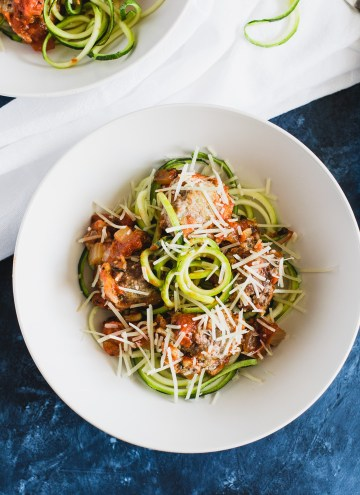 Quinoa and Ricotta Meatballs with Zoodles