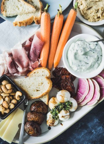 Antipasto Snack Dinner:  A Light & Easy Meal