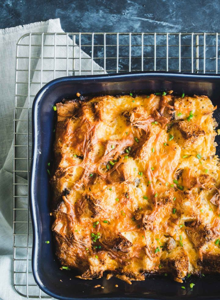 Sausage, egg & cheese breakfast casserole from above