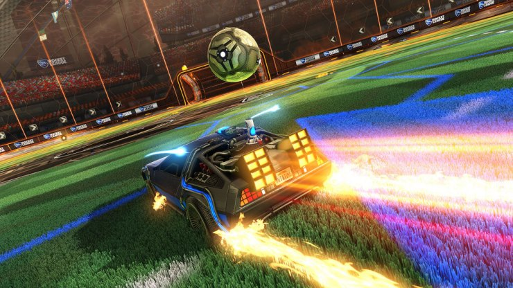 Rocket League Adds Back to the Future DeLorean DLC