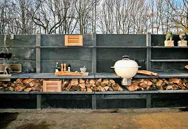 Modular Outdoor Kitchen With Shower Urban Gardens