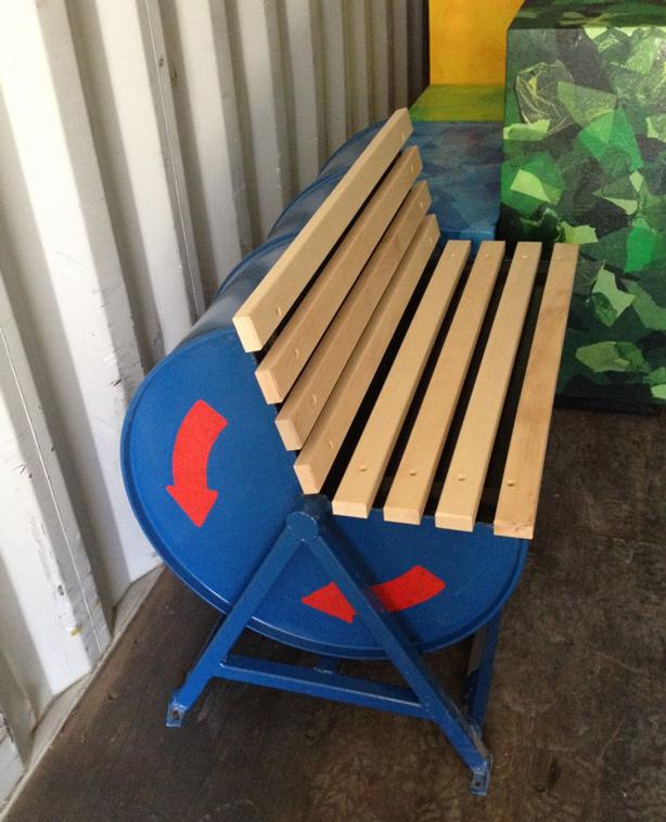 Miraculous Oil Drum Upcycled Into Outdoor Public Bench Urban Gardens Uwap Interior Chair Design Uwaporg