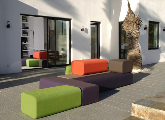 Colorful Modular Indoor Outdoor Furniture  Maison et Objet Design     One of these is Marine Peyre  whose colorful furniture collections   including the modular BFLEX line  is composed of smooth contemporary pieces  that work