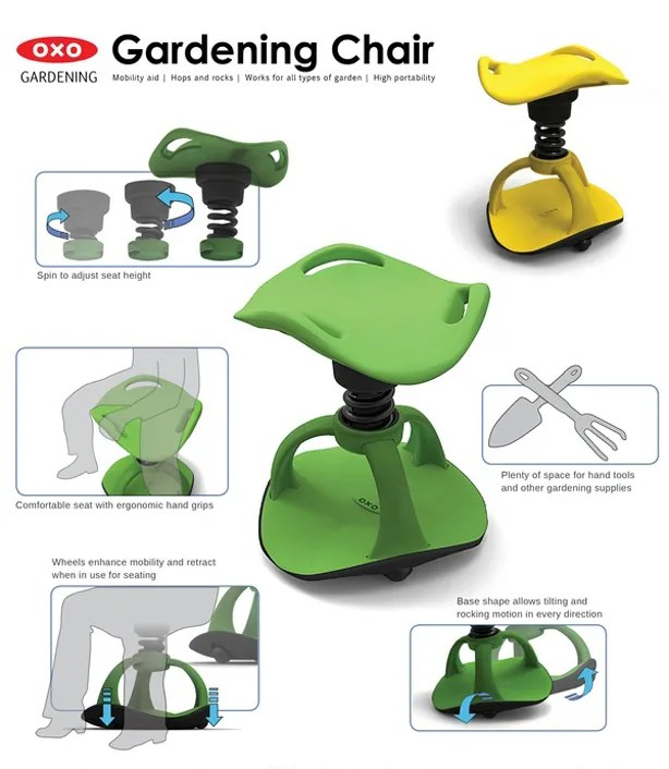 Gardening Chair Offers Mobility For Aging Green Thumbs