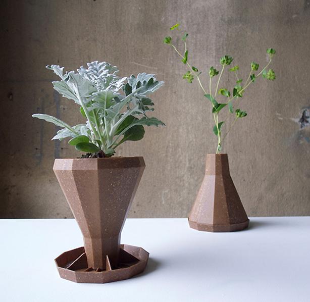 Flower Vase Flips Into Biodegradable Planter Urban Gardens