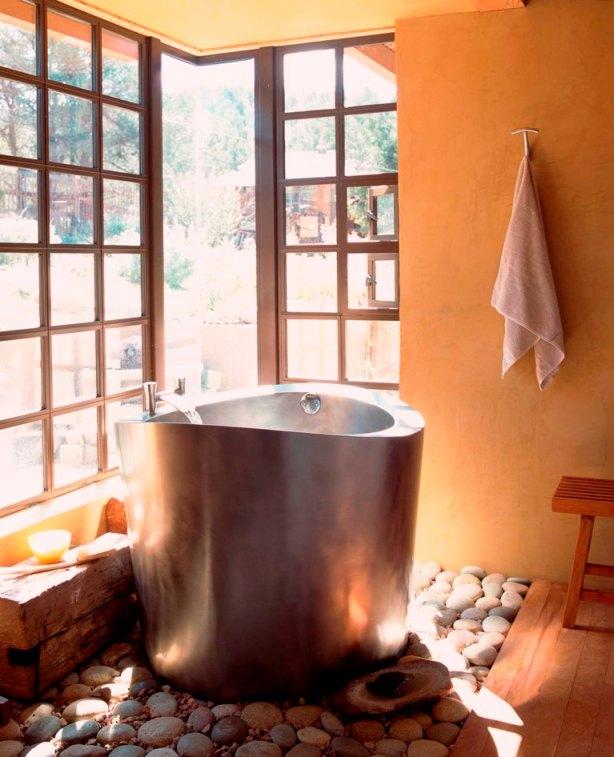 metal tub rocks large