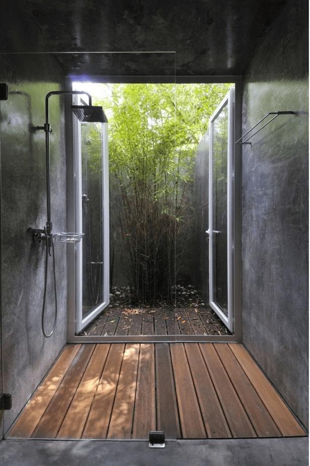 resize concrete shower