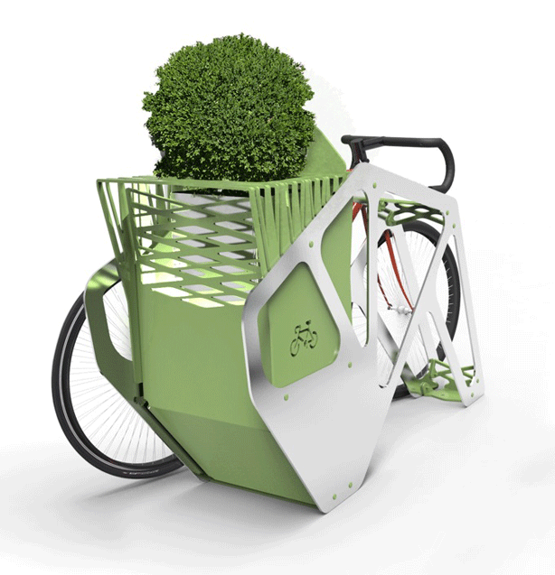 Bike Park Philadelphia Bike Racks Double as Small Urban Gardens