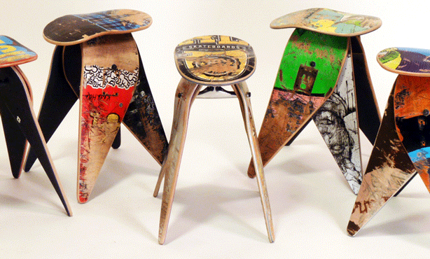 jason-podlaski-recycled-skateboards-upcycled-into-stools