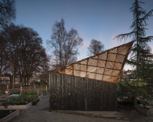 Woodlands Community Garden Shed designed by UBC architecture students in Vancouver