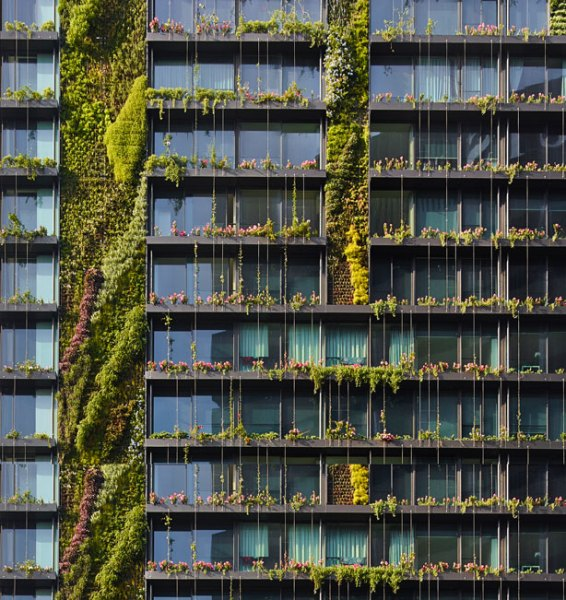 vertical garden skyscraper Hydroponic Vertical Gardens and Heliostats on Sustainable