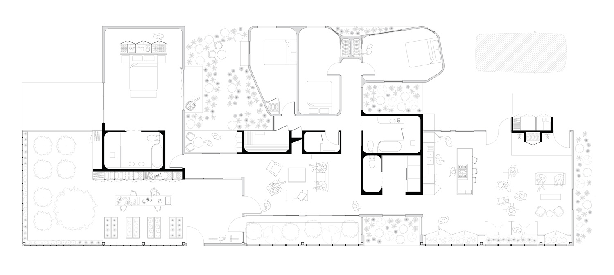 """""""Tranquil House"""" by Peter Kitchen House 2020 Competition floorplan"""