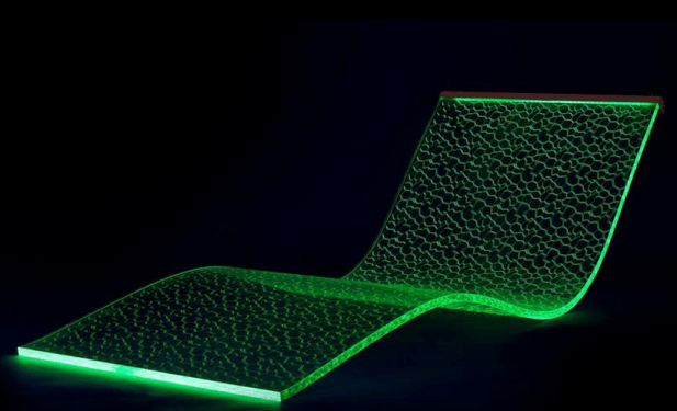 Light Emitting Lounge Chair Controlled By Smartphone