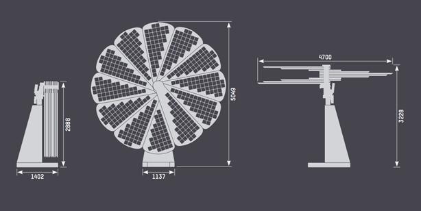 smartflower-solar-system-dimensions