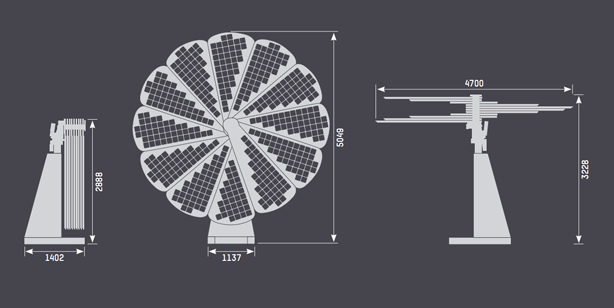 smartflower-solar-system-dimensions - Urban Gardens