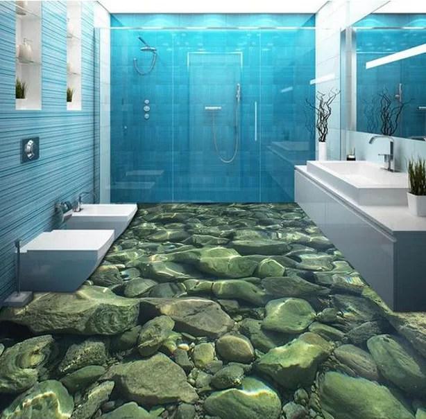 3D-pebbles-bathroom-floor-decoration-