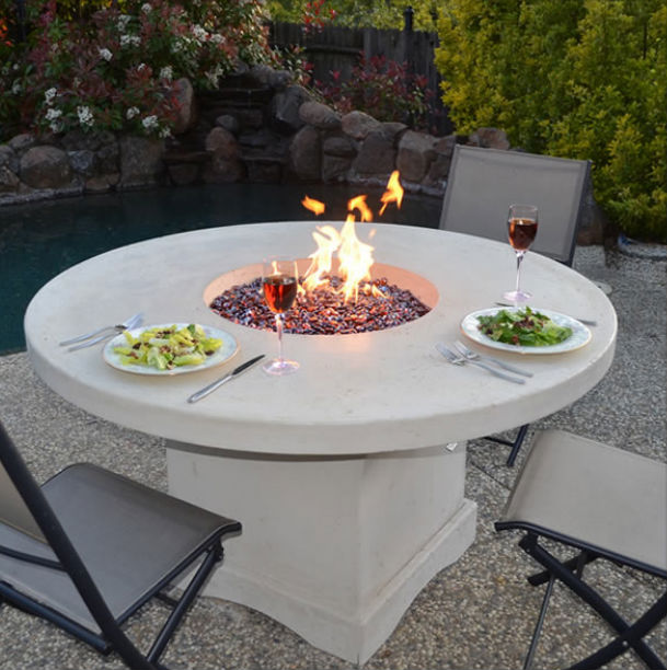 Mount Lassen Gas Fire Pit Table