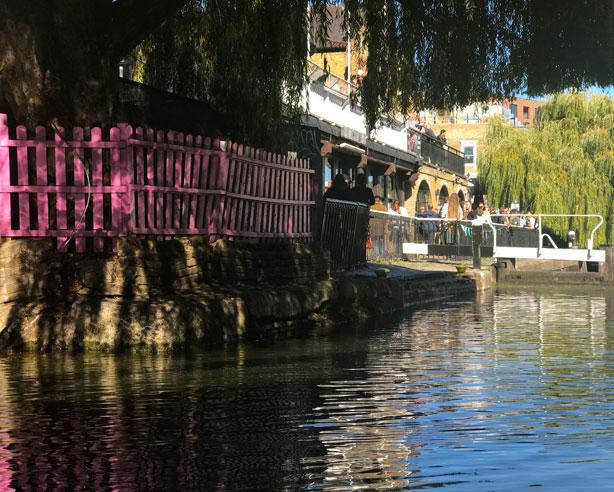 Waterbus dock at London's Camden Market