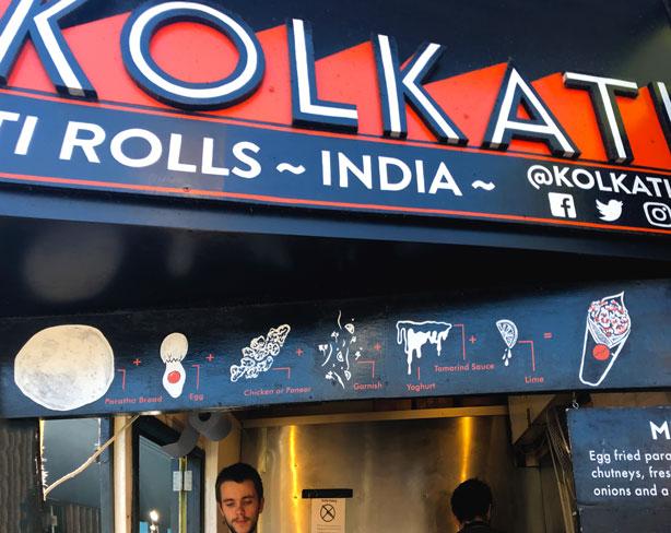 Kolkati kati rolls at London's Camden Market