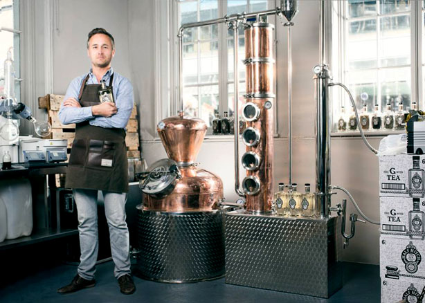 Owner Mark Holdsworth of London's Half Hitch Gin craft distillery