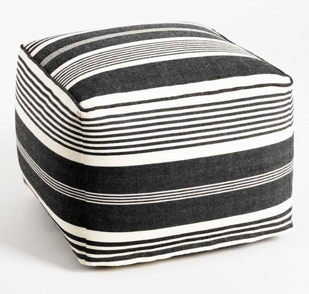 black_and_white_stripe_boho_outdoor_pouf_ottoman