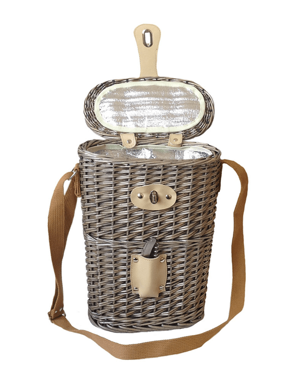TWO BOTTLE CHILLED WINE BASKET TOTE
