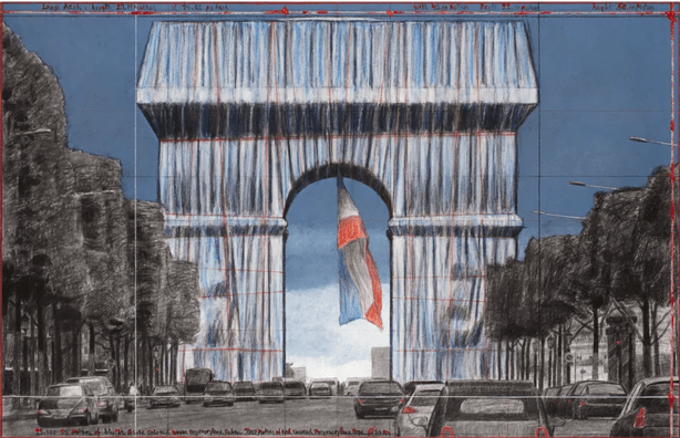 Arc de Triomphe Wrapped in Long-Awaited Christo Installation