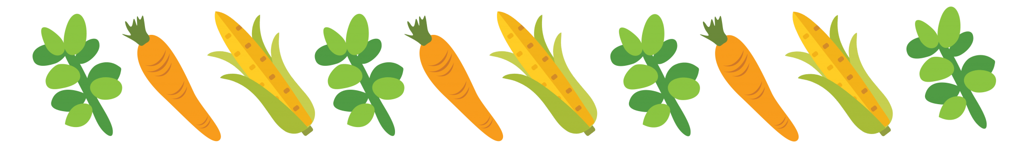 Houston Community Garden Carrot Corn Leaves Illustration