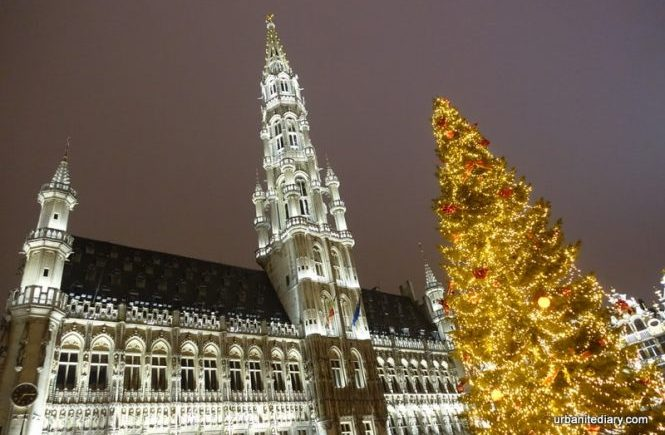 Brussels Grand Place Christmas Tree