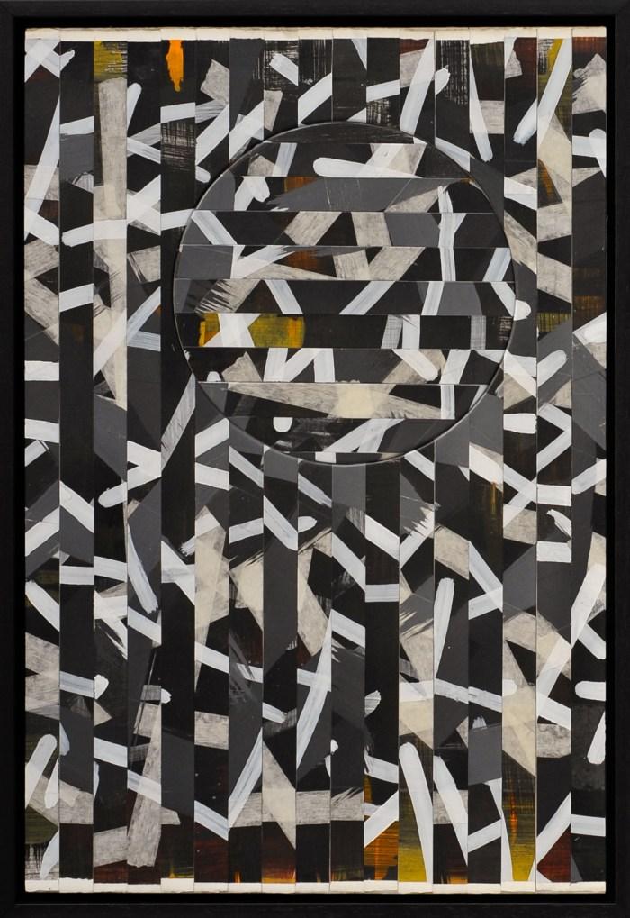 Fragmentations_02_Paper Strips on Cardboard_51x34 cm
