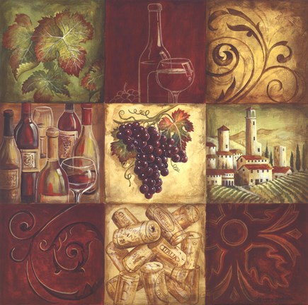 Tuscan Wine II Fine Art Print By Gregory Gorham At