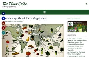 The Plant Guide is a fun site, with some great history pieces