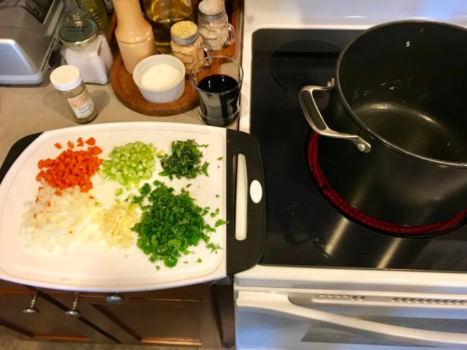When you cook, get your mise en place right, every time
