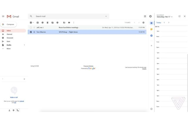 Google's new Gmail design