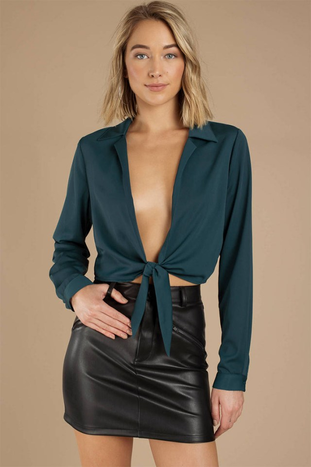 STYLECASTER | Going Out Tops | EVERY TIME EMERALD BLOUSE