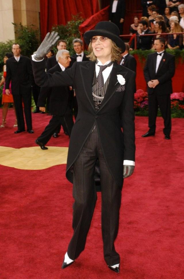 STYLECASTER | Best Celeb Women's Suits | Diane Keaton
