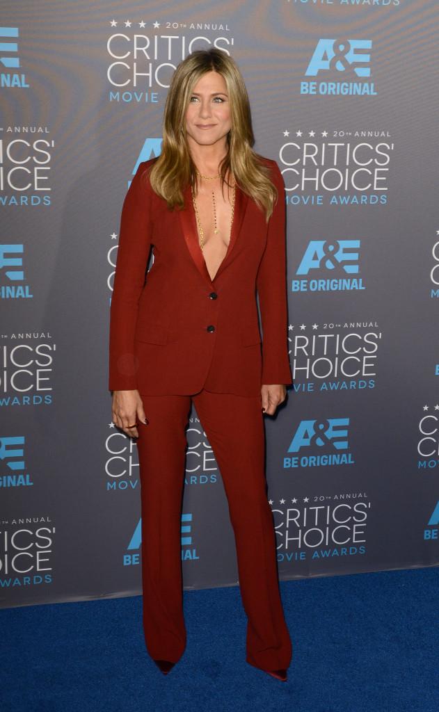STYLECASTER | Best Celeb Women's Suits | Jennifer Aniston