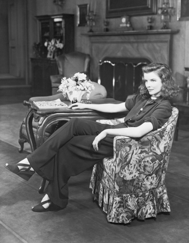 STYLECASTER | Best Celeb Women's Suits | Katherine Hepburn