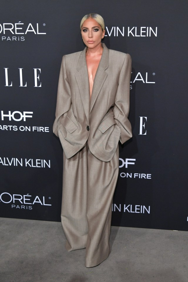 STYLECASTER | Best Celeb Women's Suits | Lady Gaga