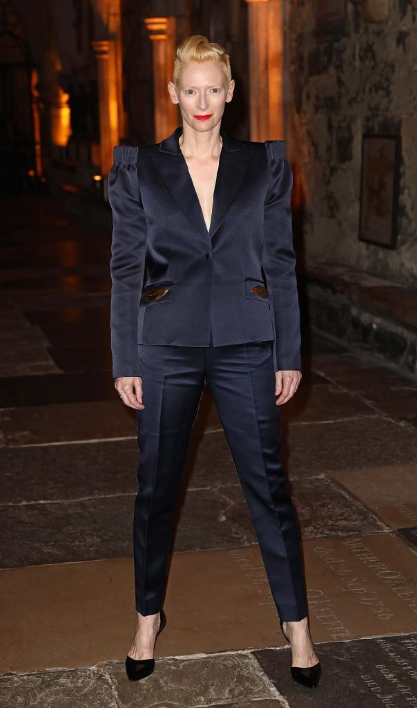 STYLECASTER | Best Celeb Women's Suits | Tilda Swinton