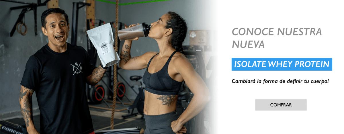 ISOLATE WHEY PROTEIN es una proteina de rapida absorcion que te ayudara a aumentar y definir tu masa muscular ya sea como un alimento regular o despues del entrenamiento