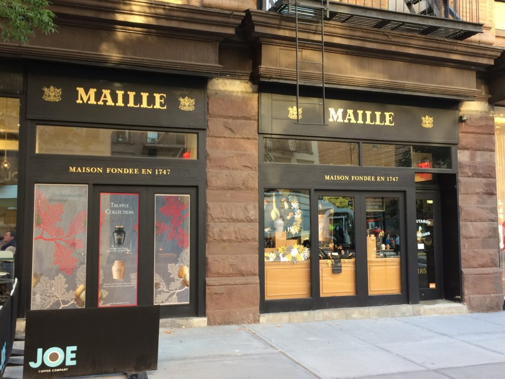 "Maille mustard ""boutique"" on Columbus Ave at 68th St."