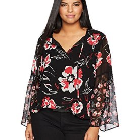 Printed Bell Sleeve Blouse