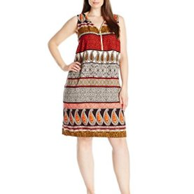 Challi Printed Zipper Front Dress