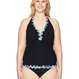 Full Figure Halter Tankini Top